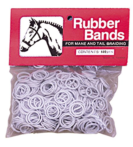 Weaver Leather Rubber Bands White