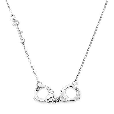 Amazon charmsstory fetish steel key handcuff necklace pendant amazon charmsstory fetish steel key handcuff necklace pendant secret shades 175 2 inch chain jewelry aloadofball Image collections