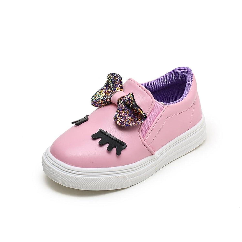 Niños Zapatos Casual Zapatilla de deporte tímida de los ojos del Bowknot