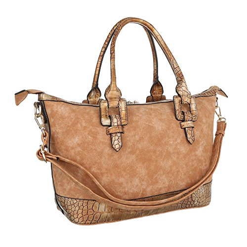 Ital Bag Shoulder Woman For Brown Plastic design Light qBUnzWqS