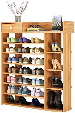 WXQ-XQ 靴ラック靴棚木材プラスチック複合棚 - 入れブーツ、8層、80 * 25 * 120CM省スペース簡単組み立て(色:赤の葉のカエデ、サイズ:80 * 25 * 120センチメートル)