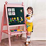 Best Kids Easels - 3 in 1 Wooden Kids Easel Double-Sided Magnetic Review