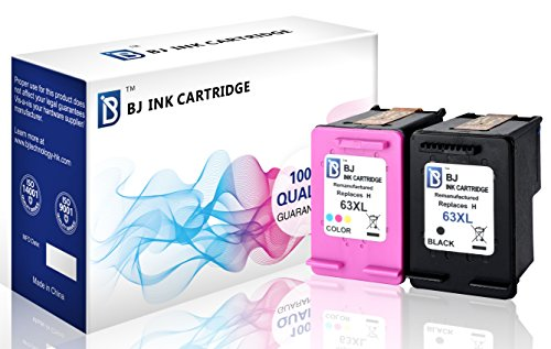 - BJ Remanufactured Ink Cartridge Replacement for HP 63XL Combo Pack (1 Black 1 Color)High Yield for HP DeskJet 1112 2130 2133 3630 3632 HP ENVY 4512 4516 4520 HP OfficeJet 3830 3832 4650 4655 5255 5258