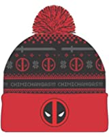Deadpool Chimichangas Holiday Print Cuff Beanie Cap Hat Licensed New