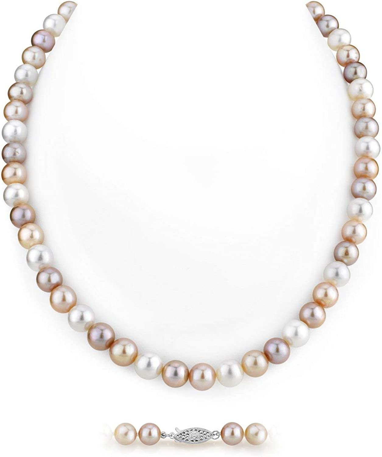 B07V6JPLB4 Multicolor Freshwater Cultured Pearl Necklace for Women in AAA Quality - THE PEARL SOURCE 51ta-lZ7Y9L