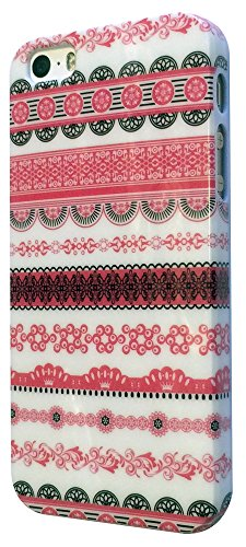 iPhone 5 5S Case cover Hard Gloss Hülle / Classic Aztec Tribal Tribe/-Ref 4