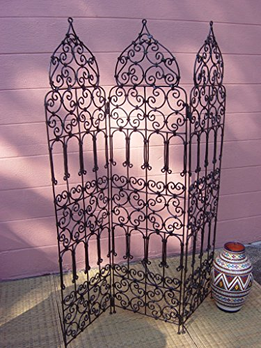 (Moroccan Room Divider Screen Wrough Iron Metal Separated Separation Partition Medium)