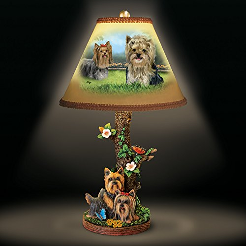 Linda Picken Darling Yorkie Accent Table Lamp With Sculpted Yorkies Base by The Bradford Exchange by Bradford Exchange (Image #5)