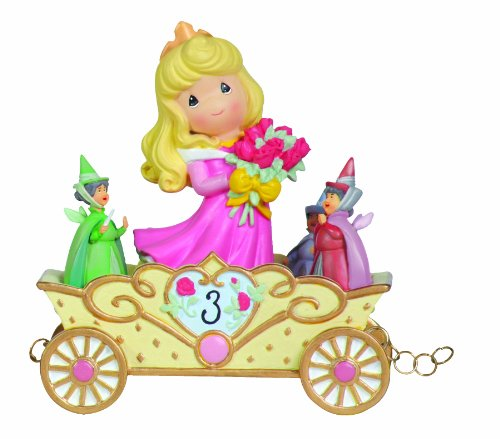 (Precious Moments, Disney Showcase Collection,  Now You're Three, A Beauty You'll Always And Forever Be, Disney Birthday Parade, Age 3, Resin Figurine, 104405)