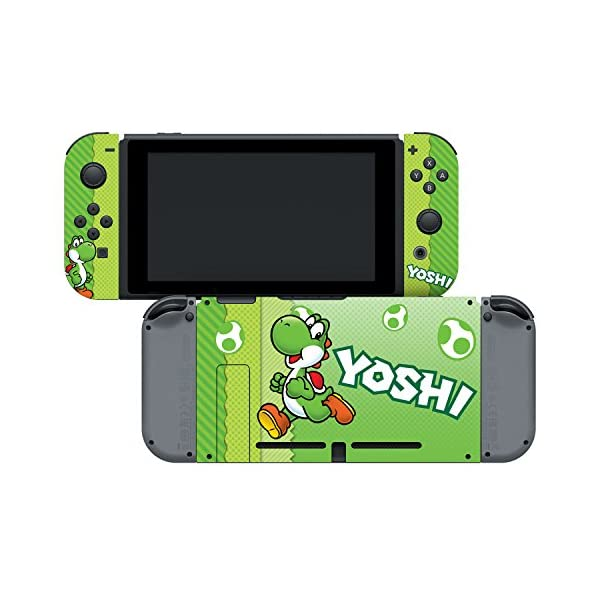 "Controller Gear Nintendo Switch Skin & Screen Protector Set, Officially Licensed By Nintendo - Super Mario Evergreen ""Yoshi Eggs"" - Nintendo Switch 4"