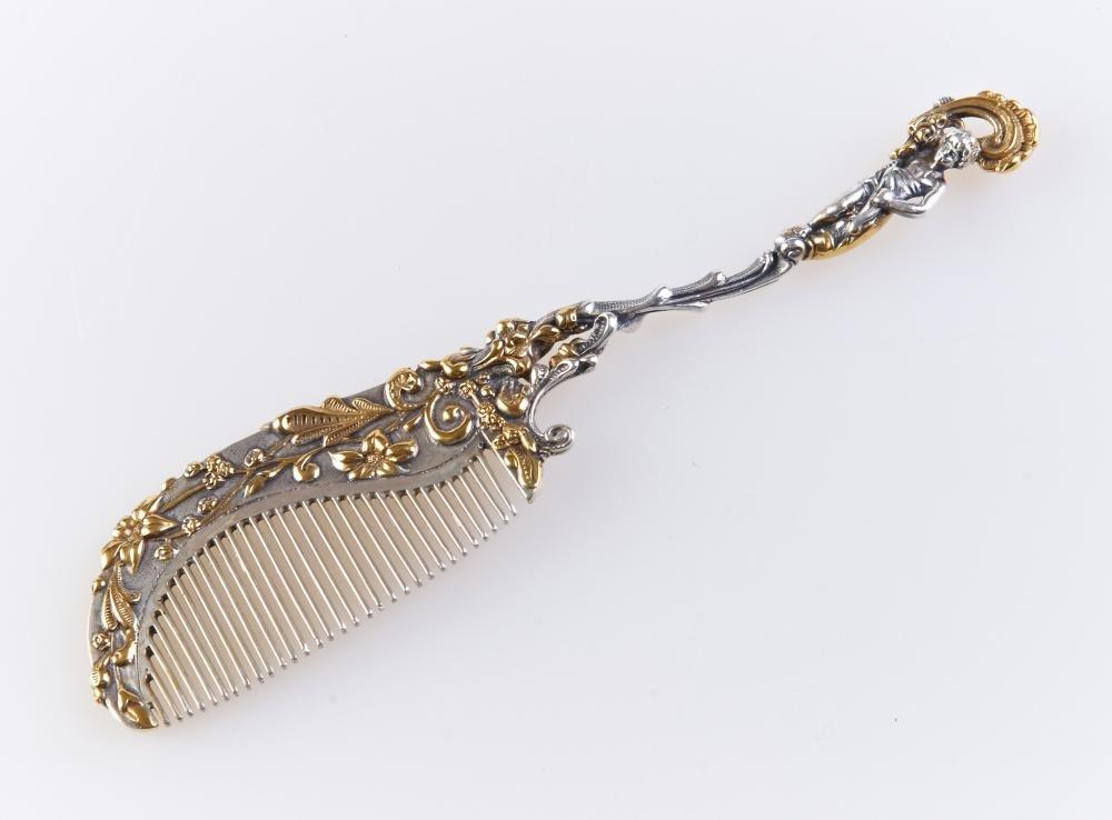 Silver Hair comb ''Amur''