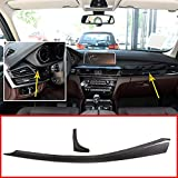 2pcs Real Carbon fiber For BMW X5 F15 X6 F16 2015-2018 Car Interior Dashboard Decoration Panel Trim Accessories Left Hand Drive
