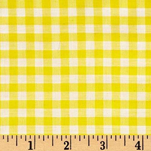 Richland Textiles Richcheck 60in Gingham Check 1/4in Yellow Fabric by The ()