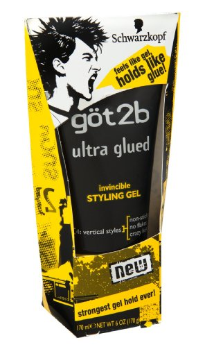 Schwarzkopf Got2b Ultra Glued 4 Vertical Styles Invincible Styling Gel 6 OZ (Pack of 18) by Got2b