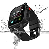 Waterproof Case for 40mm Apple Watch Series 4 Heavy Duty Shockproof Impact Resistant iWatch Sealed Protective Case with Premium Soft Silicone Watch Band Strap