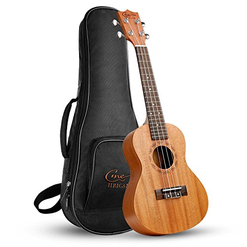 Ukelele Hricane Concert Ukulele 23inch Professional Mahogany Ukele Hawaiian Uke UKM-2 Pack with Gig Bag (Advanced Bag Pickup)