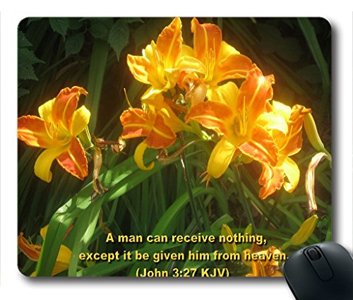 Inspirational Bible Verse Quotes John 3:27 Oblong Mouse Pad in 240mm*200mm*3mm VQ0711012