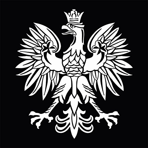 White Polish Eagle Symbol Emblem Coat Of Arms Vinyl Decal Sticker, Die cut vinyl decal for windows, cars, trucks, tool boxes, laptops, MacBook - virtually any hard, smooth surface - Polish Eagle Emblem