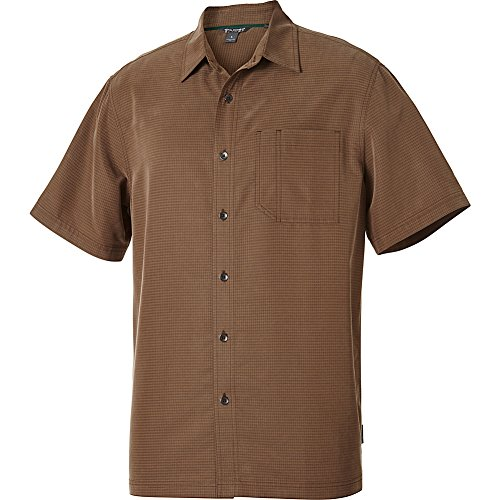 Royal Robbins Men's Desert Pucker Short Sleeve Shirt,DESERT PALM ,Medium