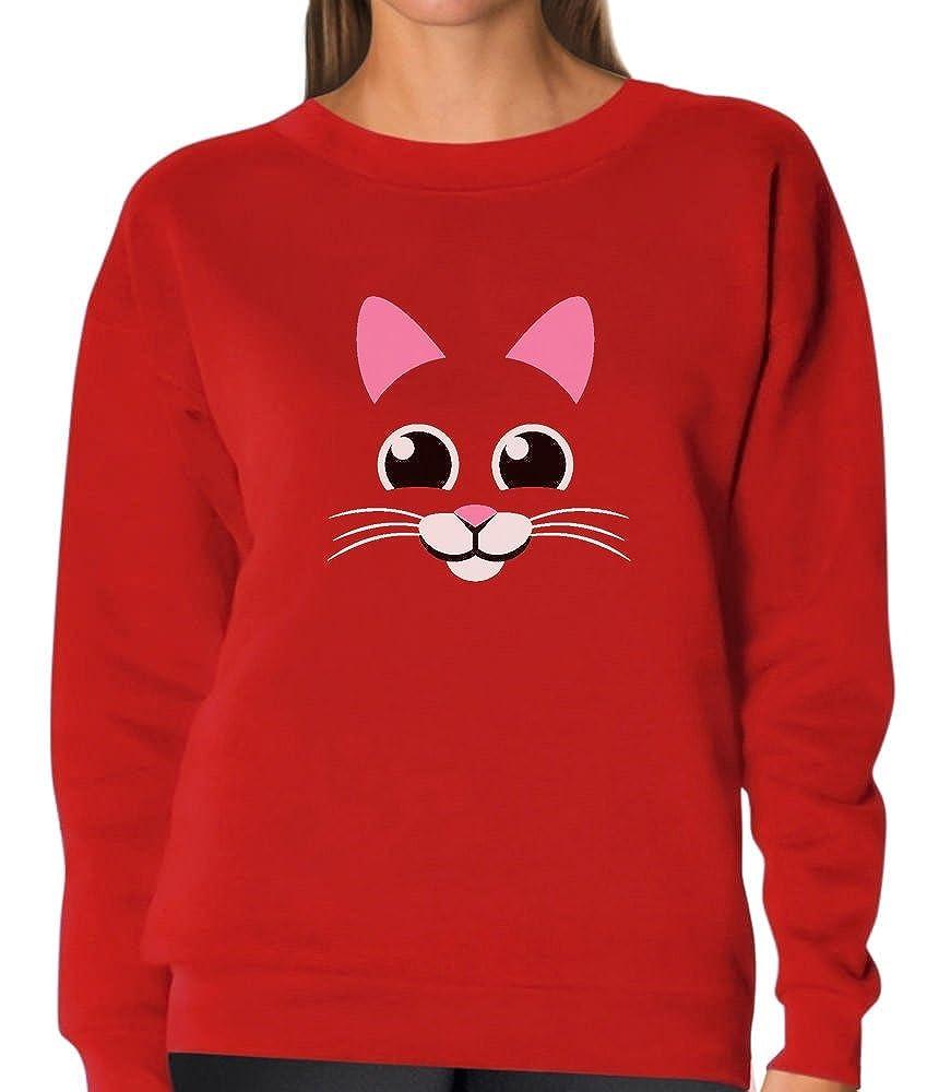 Tstars Cute Cat Face - Animal Lover Best Gift for Cat Lovers Women Sweatshirt G0PMthag8