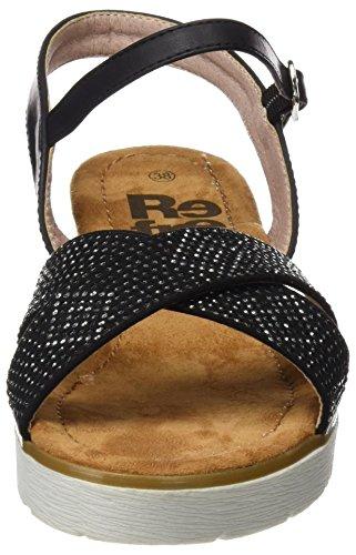 Refresh 063319, Sandalias con Plataforma para Mujer Negro (Black)