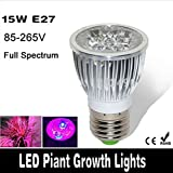 15W E27 LED Grow Light Hydroponic Plant Flower Lamp