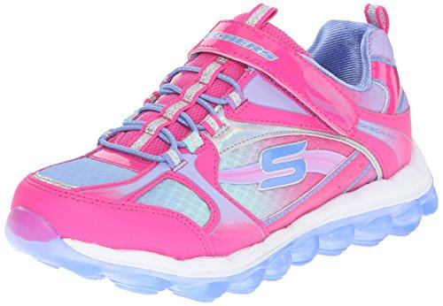 Skechers Kids Skech Air-80358L Bungee and Strap Sneaker (Little Kid/Big Kid),Neon Pink/Periwinkle, by Skechers