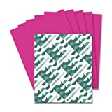Wholesale CASE of 15 - Wausau Astrobrights Colored Paper-Astrobright Paper, 24Lb, 8-1/2''x11'', 500/PK, Fireball Fuscia