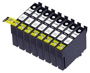 8 Multipack de alta capacidad Epson T1295 Cartuchos Compatibles 8 negro para Epson Stylus Office B42WD, BX305F, BX305FW, BX305FW Plus, BX320FW, BX525WD, BX535WD, BX625FWD, BX630FW, BX635FWD, BX925FWD, BX935FWD, Stylus SX230, Stylus SX235W, Stylus SX420W, Stylus SX425W, Stylus SX430W, Stylus SX435W, Stylus SX438W, Stylus SX440W, Stylus SX445W, Stylus SX525WD, Stylus SX535WD, Stylus SX620FW, WorkForce WF-3010DW, WF-3520DWF, WF-3530DTWF, WF-3540DTWF, WF-7015, WF-7515, WF-7525. Cartucho de tinta . T1291 © 123 Cartucho