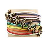 hookah stick electronic - Winter's Secret Bronze Note Pattern Hand Braided Diy Color Wax Rope Ancient Wrap Bracelet