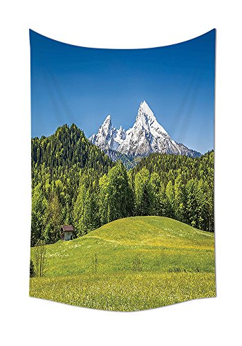 Room Decorations Tapestry Wall Hanging Bavarian Alps With Village Of Berchtesgaden And Watzmann Massif National Park Germany Bedroom Living Room Dorm Decor