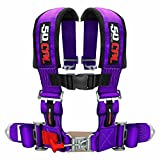 "50 Caliber Racing Purple 4 Point Harness with 2"" Straps, Sewn in Pads, Sternum Strap and Latch Lock System for Cars, Trucks, UTV and Off Road Vehicles [6008P1]"