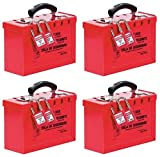 Master Lock Lockout Tagout Lock Box, Latch Tight Portable Group Lock Box, 498A (Pack of 4)