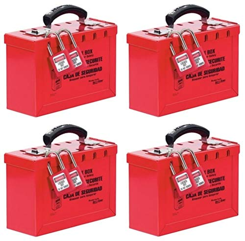 Master Lock Lockout Tagout Lock Box, Latch Tight Portable Group Lock Box, 498A (Pack of 4) by Master Lock (Image #2)