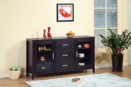 Cocoa Red (Smart home Red Cocoa Modern Furniture Fine Dining Sideboard Buffet Table)