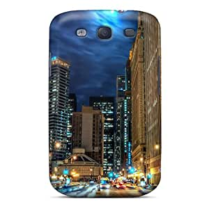 Galaxy S3 Cover Case - Eco-friendly Packaging(beautiful Chicago At Night Hdr)