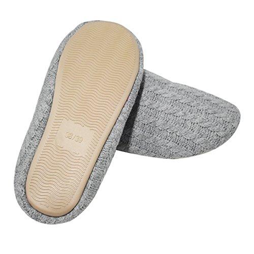 Kaschmir Zuhause COFACE Pantoffeln Herren und Indoor Beige rutschfeste Baumwolle Winter Herbst Hausschuhe für warm aus Slipper qaRR15x