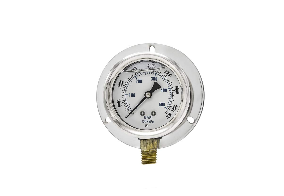 PIC Gauges 205L-254T 2.5 Dial 0//7500 psi Range 2-1-2/% Accuracy Engineered Specialty Products Inc.