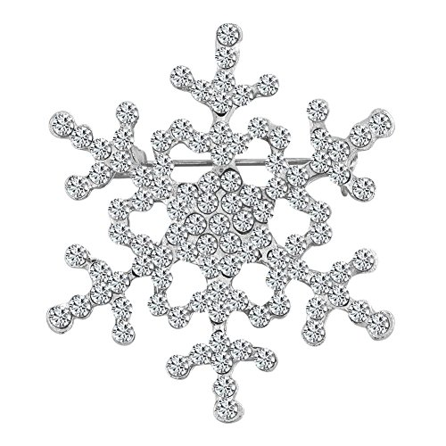 Crystal Snowflake Brooch (Fancy Christmas Snowflake Flower Brooch Woman Crystal Rhinestone Brooches and Pins for Sale)