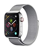 AppleWatch Series4 (GPS+Cellular, 44mm) - Stainless Steel Case with Milanese Loop