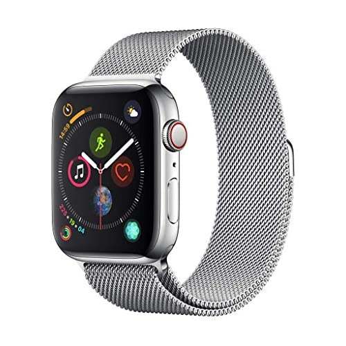 chollos oferta descuentos barato Apple Watch Series 4 GPS Cellular con caja de 44 mm de acero inoxidable en plata y pulsera Milanese Loop en el mismo tono