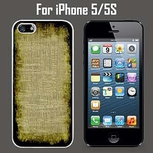 Fibers Papyrus Texture Print Custom Case/ Cover/Skin *NEW* Case for Apple iPhone 5/5S - White - Plastic Case (Ships from CA) Custom Protective Case , Design Case-ATT Verizon T-mobile Sprint ,Friendly Packaging - Slim Case