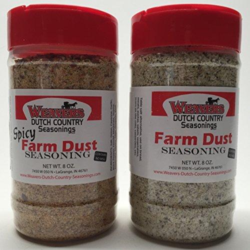 Weaver's Dutch Country Farm Dust Seasoning, Original and Spicy Bundle