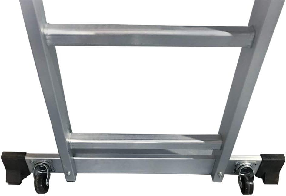 EN 131 Carico massimo: 150 kg LZQ Ponteggio 3 in 1 Scala Multifunzione in Alluminio con Piattaforma da Lavoro Ponteggio con Ruote GS testato Impalcatura Scala per Ponteggi