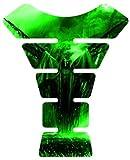 Motorcycle frozen devil green Sportbike Gel Tank Pad tankpad Protector Decal