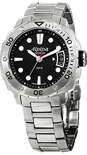 Alpina Women's AL240LB3V6B Extreme Diver Analog Display Swiss Quartz Silver ()