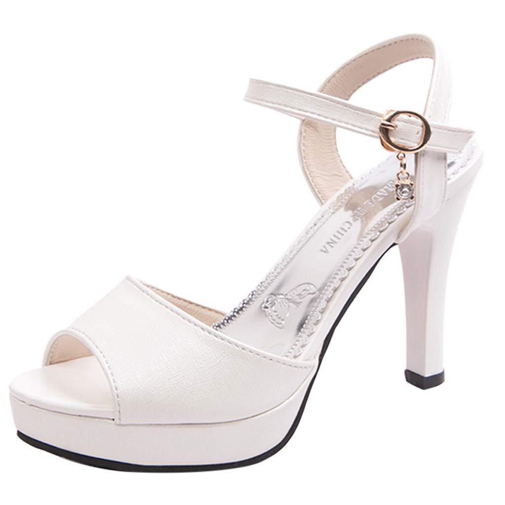 [COTTONI-Sandals] レディース WMY-013 B07NRCQ2LJ ホワイト 6 M US