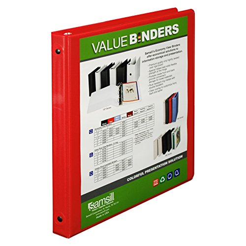 Samsill 0.5-Inch Value View Binder, Red