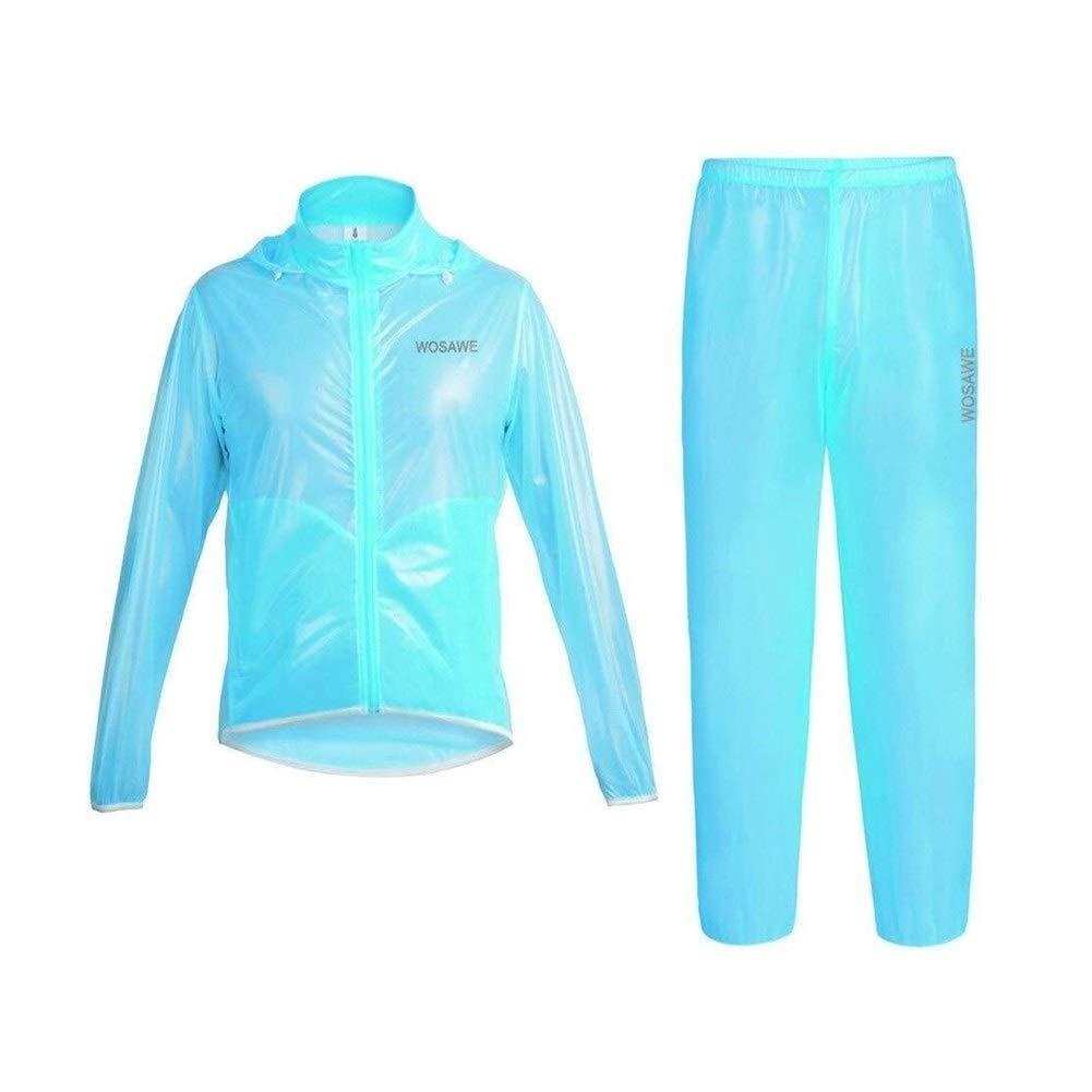 LXESWM Reflektierende Jacke Rad- / Laufjacke wasserdichte Jacken Mit Kapuze Leichter Und Atmungsaktiver Regenmantel Für Motorräder