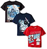 Star Wars Lego Big and Little Boys' 3 Pack Graphic Tees